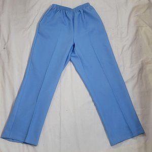 Alfred Dunner Womens Light Blue Classic Elastic Wa